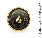 huobi token cryptocurrency coin ... | Shutterstock .eps vector #1110152669