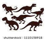 scary dinosaurs vector... | Shutterstock .eps vector #1110158918
