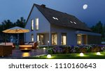 Detached House With Light In...