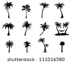 palm tree silhouette | Shutterstock .eps vector #111016580
