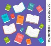 books vector illustration | Shutterstock .eps vector #1110167270