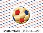 football gold ball in blank... | Shutterstock .eps vector #1110168620