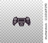 game controller for smartphone... | Shutterstock .eps vector #1110169190