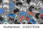 video game controller... | Shutterstock . vector #1110173126
