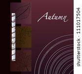elegant minimalist autumn... | Shutterstock .eps vector #111017504