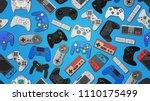 video game controller... | Shutterstock . vector #1110175499