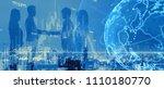 global netwrok concept.... | Shutterstock . vector #1110180770