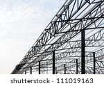 Steel Frame Of The Factory Roof ...