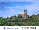 the castle of kaub germany | Shutterstock . vector #1110193313