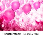 Pink Birthday Balloons Over...