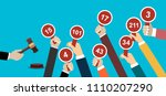 auction and bidding concept.... | Shutterstock .eps vector #1110207290