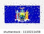 flag of american state new york ... | Shutterstock . vector #1110211658