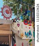 hippie decoration accessories ... | Shutterstock . vector #1110213626