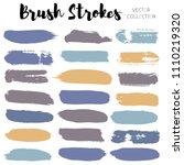 brush strokes set backgrounds.... | Shutterstock .eps vector #1110219320