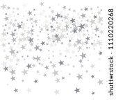 silver flying stars confetti... | Shutterstock .eps vector #1110220268