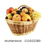 still life of fruit in basket... | Shutterstock . vector #111022280