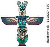 art spirit being shamane totem... | Shutterstock .eps vector #1110224630
