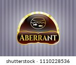 gold emblem with fishbowl... | Shutterstock .eps vector #1110228536