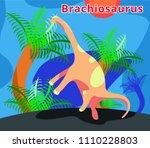 cute dinosaur brachiosaurus...   Shutterstock .eps vector #1110228803