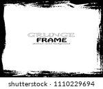 grunge frame. vector... | Shutterstock .eps vector #1110229694