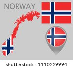 colorful flag  map pointer and... | Shutterstock .eps vector #1110229994