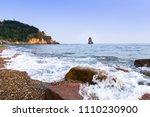 sea view of trestle bridge in... | Shutterstock . vector #1110230900