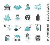 salt icon set | Shutterstock .eps vector #1110231206