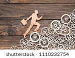 the office worker with a... | Shutterstock . vector #1110232754