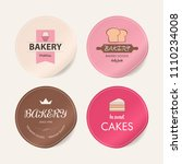 collection of vintage bakery... | Shutterstock .eps vector #1110234008