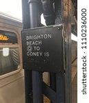 train arriving at brooklyn... | Shutterstock . vector #1110236000