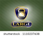 gold emblem or badge with... | Shutterstock .eps vector #1110237638