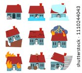 cartoon building disasters... | Shutterstock .eps vector #1110244043