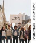 multi ethnic group of females...   Shutterstock . vector #1110245390