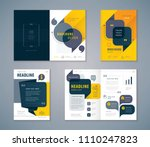 cover book design set  black... | Shutterstock .eps vector #1110247823
