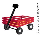 wagon transportation cartoon... | Shutterstock .eps vector #1110249020