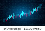 chart chart of the candlestick... | Shutterstock .eps vector #1110249560