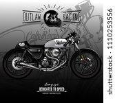 vintage cafe racer poster | Shutterstock .eps vector #1110253556