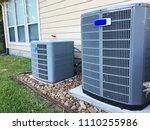 residential hvac installation | Shutterstock . vector #1110255986