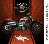 vintage scrambler motorcycle...   Shutterstock .eps vector #1110256763