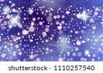 milky way galaxy abstract blue... | Shutterstock .eps vector #1110257540