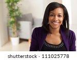 pretty african american... | Shutterstock . vector #111025778