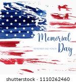 usa memorial day background.... | Shutterstock .eps vector #1110262460