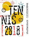 tennis typographical vintage... | Shutterstock .eps vector #1110263846