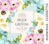 vintage wedding invitation   Shutterstock .eps vector #1110267713