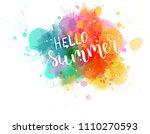 watercolor imitation... | Shutterstock .eps vector #1110270593
