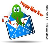 snake in an envelope with a...   Shutterstock .eps vector #111027089