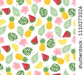 seamless pattern with tropical... | Shutterstock .eps vector #1110273326