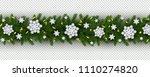 christmas and new year border... | Shutterstock .eps vector #1110274820