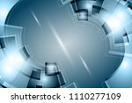 digital technology concept.... | Shutterstock . vector #1110277109