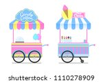 candy cotton and ice cream... | Shutterstock .eps vector #1110278909